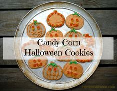 candy corn sugar cookies - HomeEc@Home Candy Corn Halloween Cookies #halloween #halloweencookies #candycorn #candycorncookies #cookies #sugarcookies