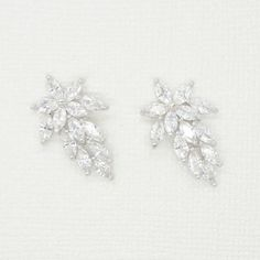 Excited to share the latest addition to my #etsy shop: Blossom Cubic Zirconia Earrings - Silver CZ Stud Earrings, Crystal Earrings, Bridesmaid Earrings, Bridal Earrings, Wedding Earrings, Jewelry http://etsy.me/2FgHInr #jewelry #earrings #silver #artdeco #elegant