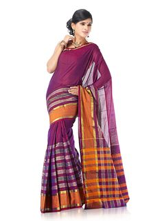 Deep Purple Cotton Hubli Saree