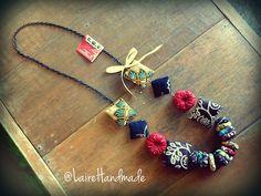 Handmade batik necklace