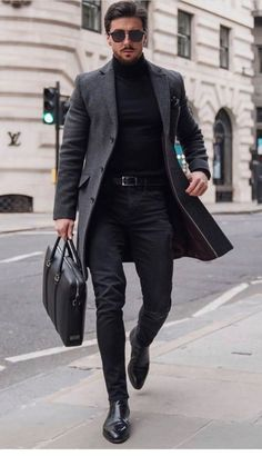 Turtleneck Outfit Casual, Black Jeans Outfit Casual, Classy Winter Outfits, Stylish Mens Outfits, Classy Casual, Grey Jeans Men, Burak Ozcivit, Black Boots, Men's Turtlenecks