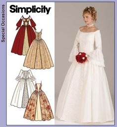 Simplicity 4731~Pattern B or D Sleeveless. Lower cost and customize to what I want for a wedding dress.