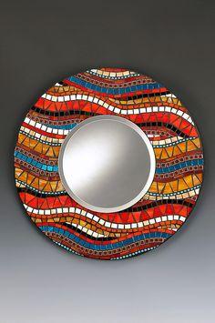 24 inch diameter mosaic mirror by manondoyle, via Flickr