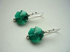 St Patrick's Day earrings, Swarovski shamrocks #shamrocks #Irish #stpatricksday