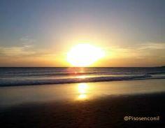 Hermosa #puestadesol en la playa de la #Fontanilla