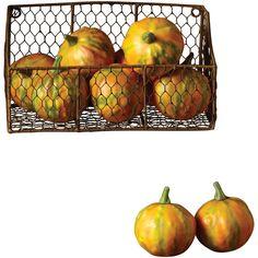 French Market Faux Mini Gourd (Set of 6)