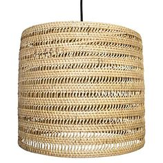 Lift your interiors with the textural and exotic weave of the quality Round Pendant Light, White Wash from LS Collections.