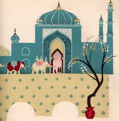 The Blind Men and the Elephant illustrated by Janice Holland (1959)