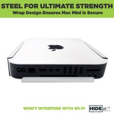 Silver Mac mini securely held in HIDEit Mount without interfering with Wi-Fi. New Mac Mini, Vesa Mount, Sliding Wall, Silver Walls, Apple Inc, Wall Mounted Tv, Digital Trends, Wifi, Desk