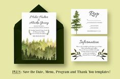 In the Woods Wedding Suite by Knotted Design on @creativemarket