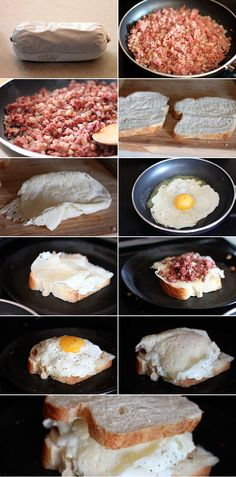 Corned Beef Hash Breakfast Sandwich- I must make this for Tyler, he loves Corned Beef Hash!