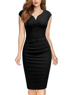 Miusol-Womens-Vintage-Slim-Style-Sleeveless-Business-Pencil-Dress - Dresses for Work Elegant Dresses, Women's Dresses, Casual Dresses, Short Dresses, Dresses For Work, Dress Long, Classy Dress, Classy Outfits, Chic Outfits