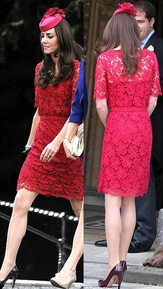 Catherine Duchess of Cambridge, aka Kate Middleton, dress by Collette Dinnigan. 09/25/11