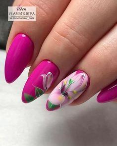 Best Nail Art Designs, Colorful Nail Designs, Beautiful Nail Designs, Beautiful Nail Art, Cute Pink Nails, Cute Nail Art, Pretty Nails, Spring Nails, Summer Nails