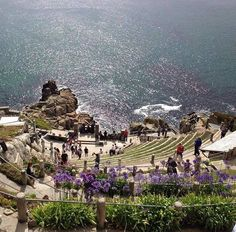 The Minack Theatre in west Cornwall. Cornwall Coast, West Cornwall, Cornwall England, Beautiful Islands, Beautiful Places, Things To Do In Cornwall, Castles To Visit, Rock Pools, British Isles
