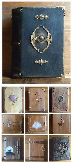 Handmade Medieval-Style Wooden Journals by Atelier Du Grimoire: