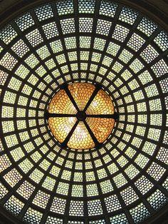 Tiffany Glass Dome, Chicago Cultural Center