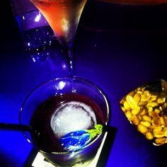 Gold leaf cocktails @ W hotel Bangkok W Hotel, Gold Leaf, Chocolate Fondue, Punch Bowls, Bangkok, Cocktails, Desserts, Travel, Food