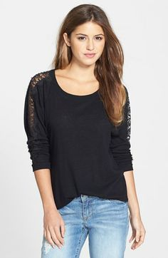 C & C California Lace Detail Dolman Sleeve Top available at #Nordstrom