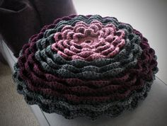 Cozy Flora Floor Pillow a crochet pattern by AnaidDesigns on Etsy