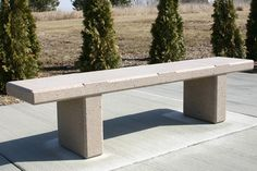 B5360NS Skateboard Deterrent Bench - Photographs - Doty & Son's Concrete Products