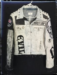 White denim rocker jackets from Chad Cherry Clothing.