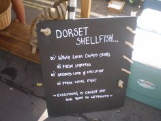 Wonderful Dorset Food Festival, Letter Board, Seafood, Fish, Sea Food