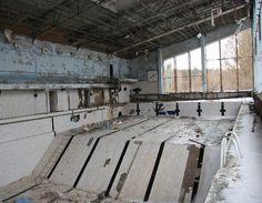 Abandoned swimming pool, Pripyat.