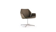 Cahoots - Keilhauer Side Lounge chair with pedestal swivel base Starts $1217 List