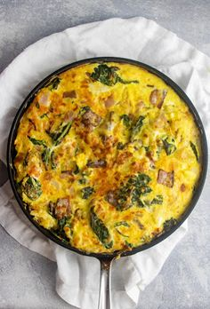 Hash Brown Frittata with Cheese and Bacon - On Poinsettia Drive Giada Recipes, Egg Recipes, Brunch Recipes, Breakfast Recipes, Cooking Recipes, Breakfast Dishes, Brunch Egg Dishes, Savory Breakfast, Banana Recipes