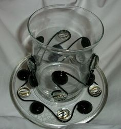 Beaded candle holder with beaded base plate by ElegancePlus, $17.99