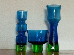 50-tals keramik: Min Bo Borgström samling - de blå