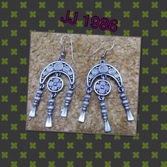 """J.J Earrings 1986 Unique and handmade items directly from creative people around the world. Vintage item from the 1980's silver tone W: 1"""" L: 2"""" very good condition JJ Earring Jewelry Earrings"""