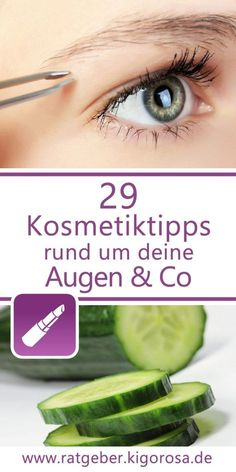 29 Cosmetic tips for face and make-up - whether cucumber mask or make-up remover, here you will lear How To Remove, How To Apply, How To Make, Cucumber Mask, See And Say, Homecoming Makeup, Girls Makeup, Tricks, Cosmetics