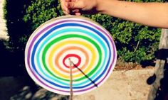 Get retro and show your your kids how to make this amazing rainbow disc spinner - it's from a time when there were no screens and no battery operated toys.