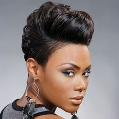 Cute voluminous half up hairstyle for African American women