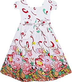 Mädchen Kleid Rosa Blume Kurz Ärmel Gr.104 http://amzn.to/2h18sAm