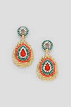 COLORWAY, SHAPEBrielle Earrings in Fire and Ice | Women's Clothes, Casual Dresses, Fashion Earrings & Accessories | Emma Stine Limited