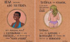 Ilustrações incríveis lembram que a mulher é dona do próprio corpo