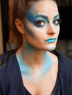 Halloween Makeup Idea: Pretty, Sparkly Fish : Daily Beauty Reporter :  My favorite part of Halloween isn't necessarily dressing up—it's being able to play with all the crazy makeup that I love but never have the chance to use. And that's actually how I came up with this year's costume....
