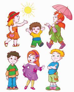 Different cartoon kids design vector 03