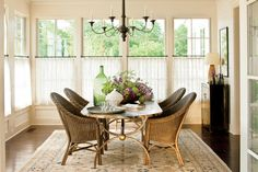 Casual Dining Space Perfect For Family Dinners In The Nashville Idea House  Half Curtains, Curtains