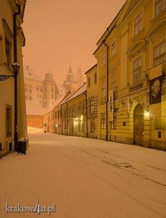 Krakow, Poland in winter.