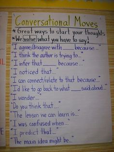 KIDSTUFF <3 Discussion Strategy: Conversational Moves