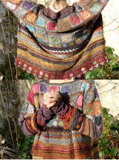 well done - facilecécile Cardigan Au Crochet, Crochet Winter, Knit Or Crochet, Pull Crochet, Chunky Crochet, Knitting Wool, Knit Fashion, Knitting Designs, Crochet Clothes