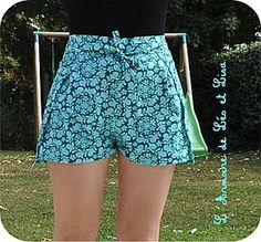 Sewing shorts easy free pattern 54 ideas for 2019 – BuzzTMZ Diy Clothing, Sewing Clothes, Barbie Clothes, Pantalon Thai, Wrap Pants, New Yorker Mode, Diy Shorts, Sewing Shorts, Diy Vetement