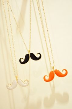 $3.99 Fashion Mustache Long Chain Pendant Necklace at Online Jewelry Store Gofavor