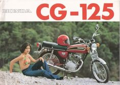 Honda - This paint scheme is not like any I ever saw in the USA. I wonder if the basic bike isn't what we knew as a Motos Vintage, Vintage Bikes, Vintage Ads, Vintage Images, Honda Scrambler, Cafe Racer Honda, Yamaha, Vintage Honda Motorcycles, Honda Bikes