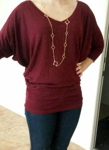 Love this color and style Market & Spruce Aleah Heathered V-neck Dolman