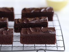 Cut this rich chocolate velvet cake with chocolate glaze into little finger sized sliced for an elegant afternoon tea plate.